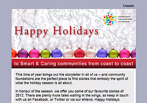 Community Foundations of Canada 2012 Holiday Greeting