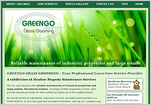 Greengo Grass Grooming website