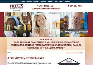 Pillar5 Pharma website