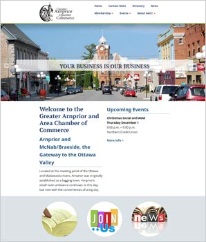 reater Arnprior Chamber of Commercer website
