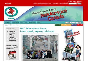 Rendez-vous Canada Educational Tours website